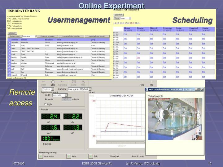 Online Experiment