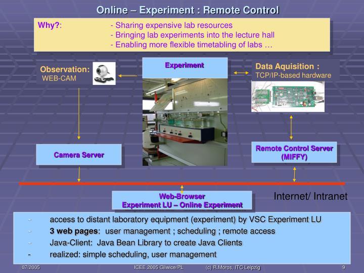 Online – Experiment : Remote Control
