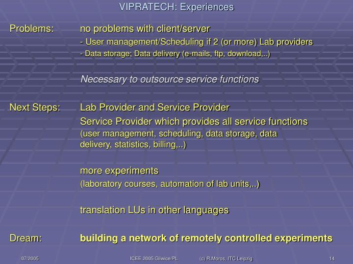 Problems: no problems with client/server