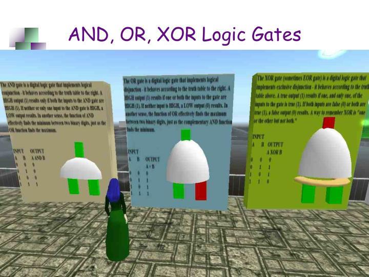 AND, OR, XOR Logic Gates