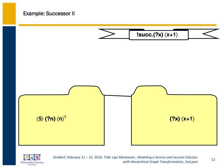 Example: Successor II