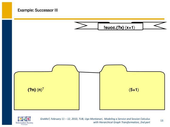 Example: Successor III