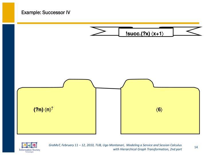 Example: Successor IV