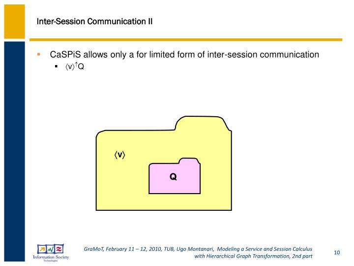 Inter-Session Communication II