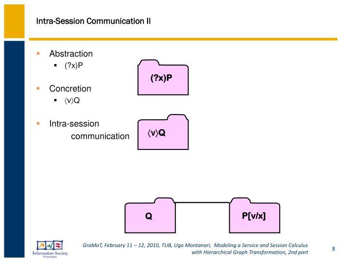 Intra-Session Communication II