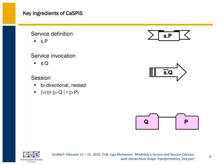 Key Ingredients of CaSPiS