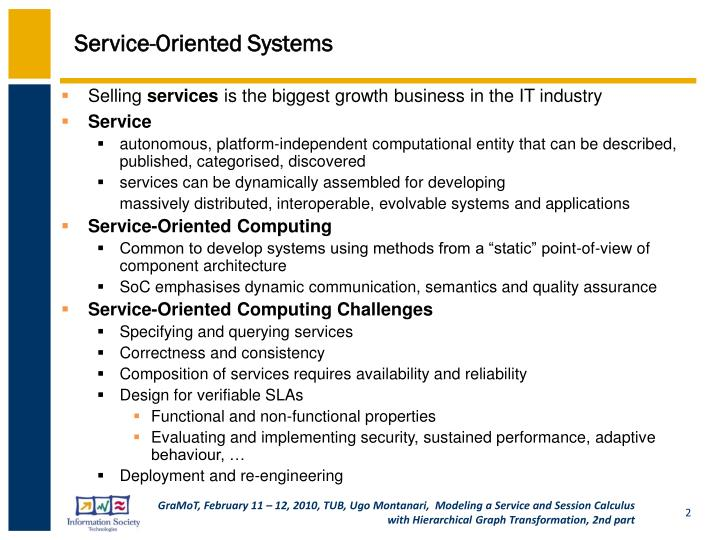 Service oriented systems