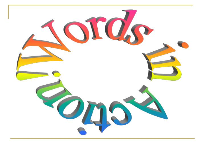 Words in Action!