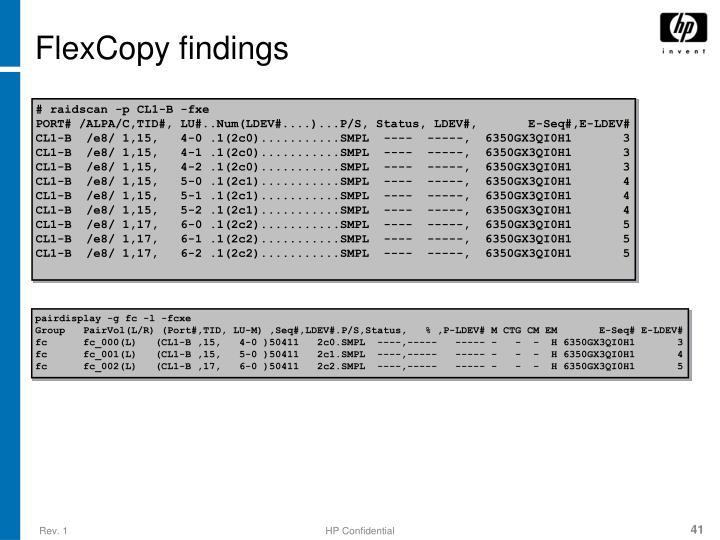 FlexCopy findings