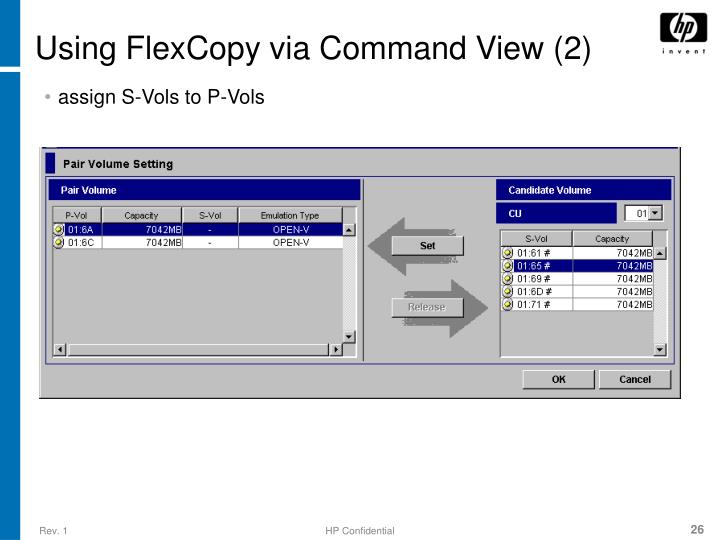 Using FlexCopy via Command View (2)