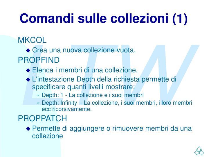 Comandi sulle collezioni (1)