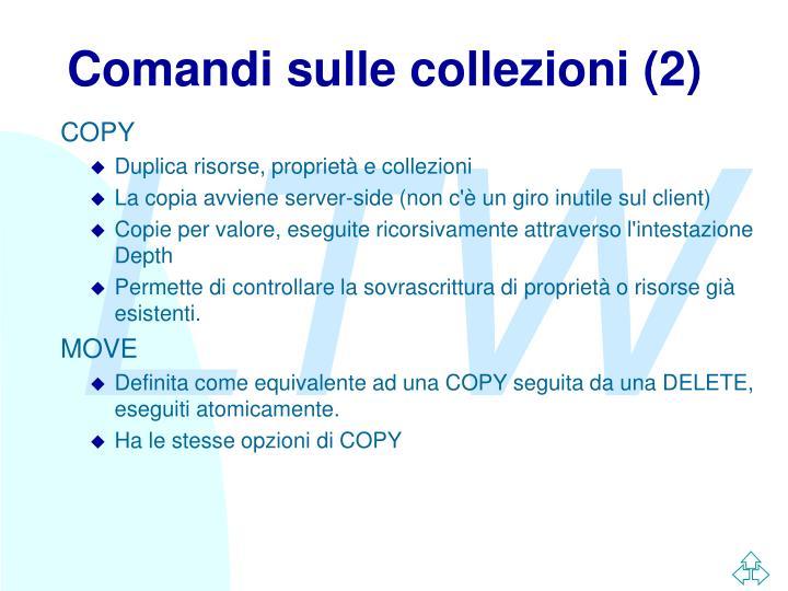 Comandi sulle collezioni (2)