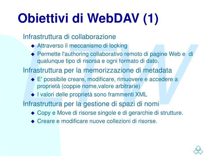 Obiettivi di WebDAV (1)