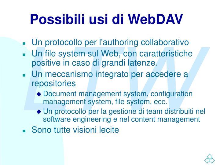 Possibili usi di WebDAV