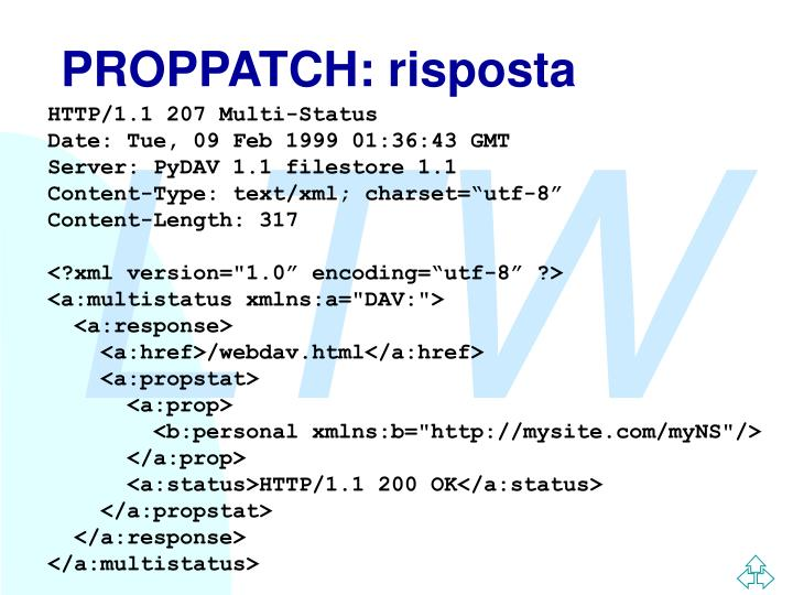 PROPPATCH: risposta