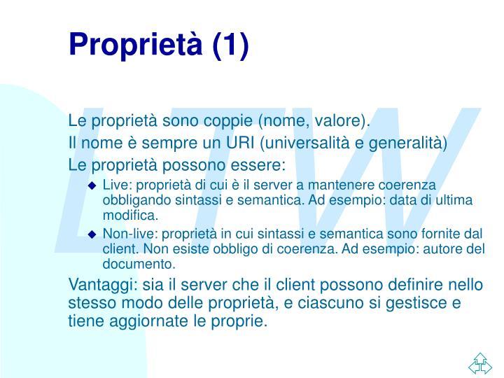 Proprietà (1)