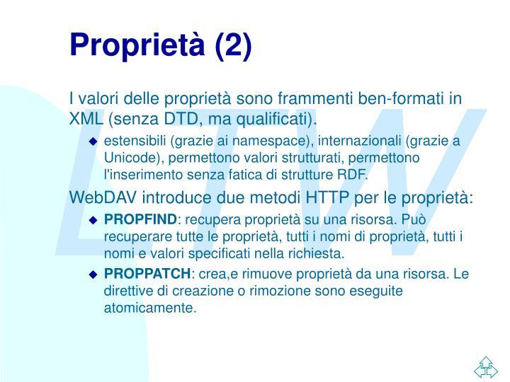 Proprietà (2)