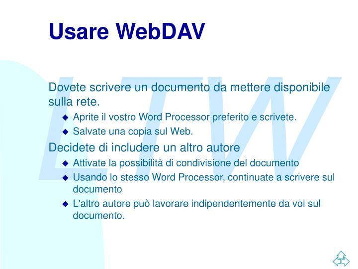 Usare webdav