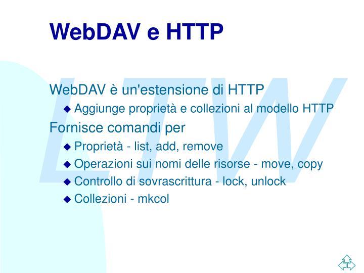 WebDAV e HTTP