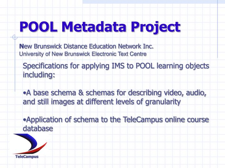 POOL Metadata Project