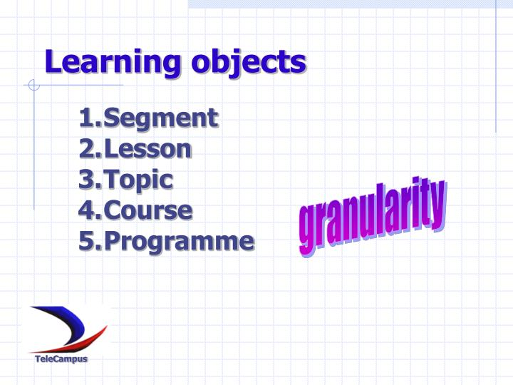 Learning objects