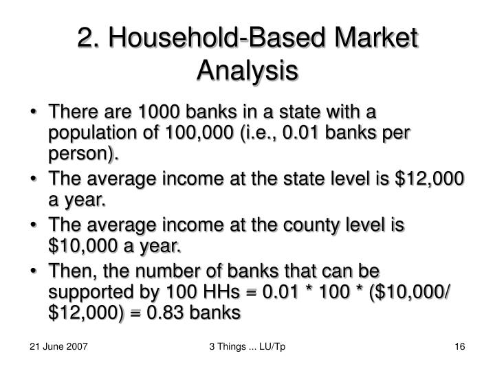 2. Household-Based Market Analysis