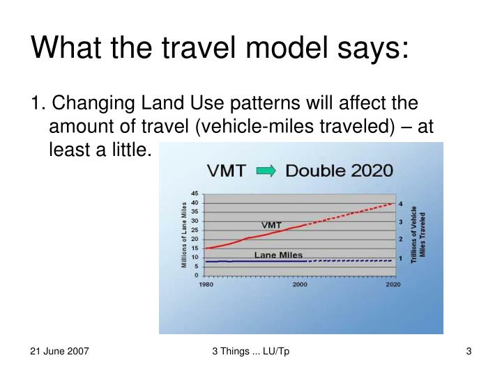 What the travel model says