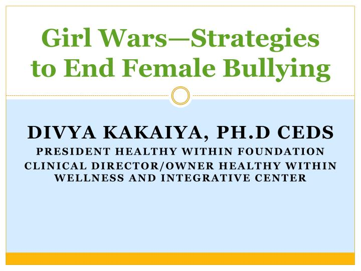 girl wars strategies to end female bullying n.