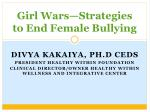 girl wars strategies to end female bullying