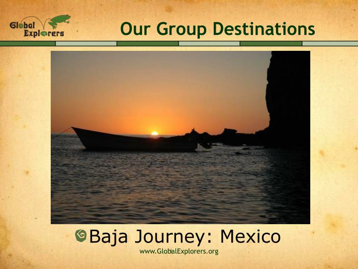 Our Group Destinations