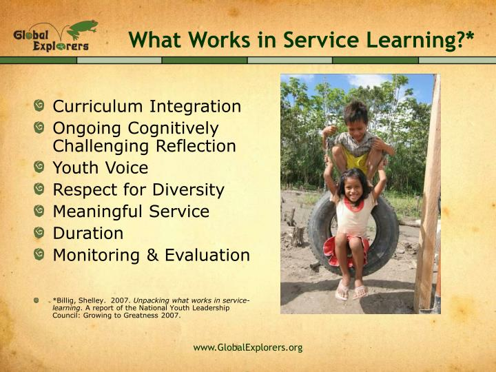 What Works in Service Learning?*