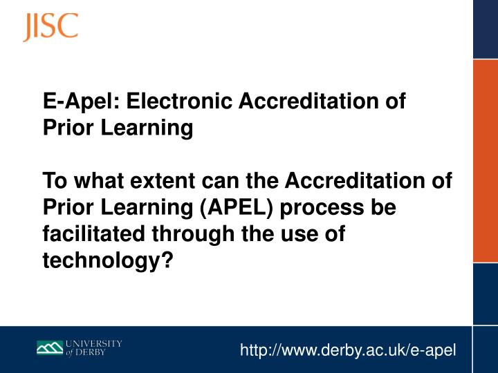 E-Apel: Electronic Accreditation of Prior Learning