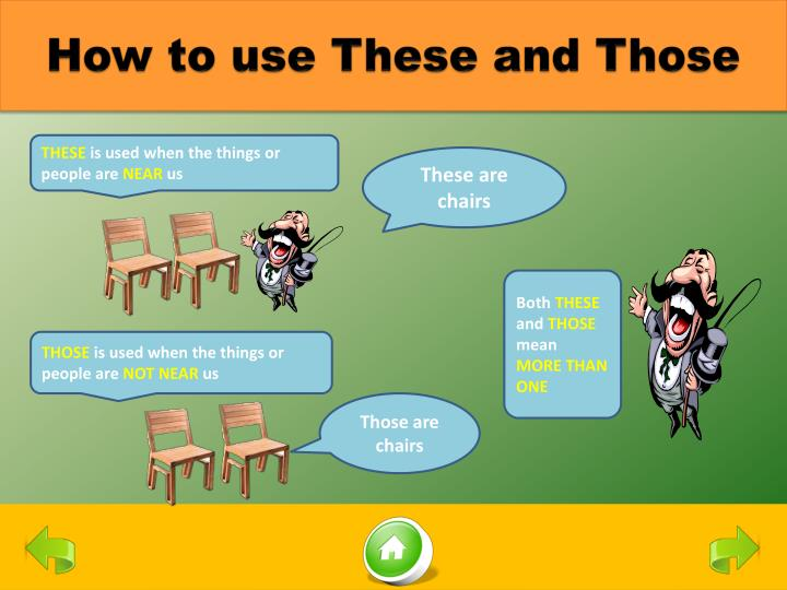 How to use These and Those