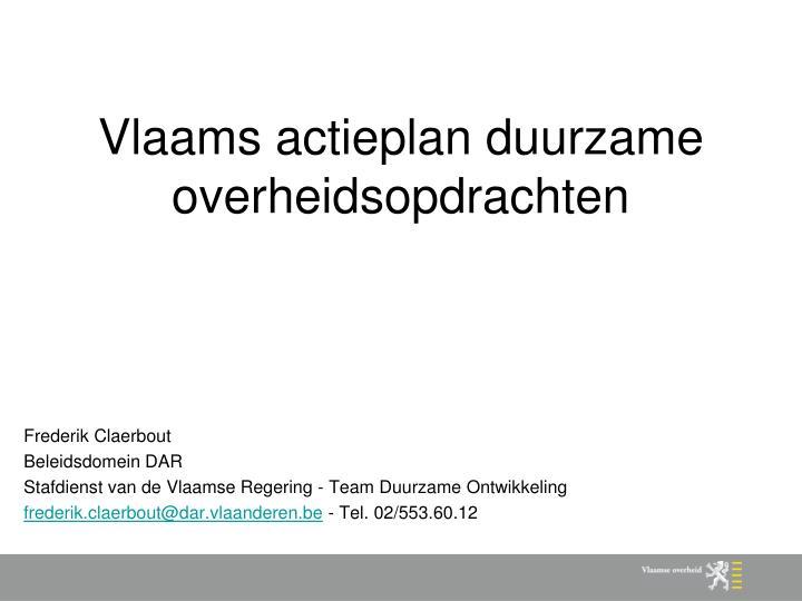 vlaams actieplan duurzame overheidsopdrachten n.