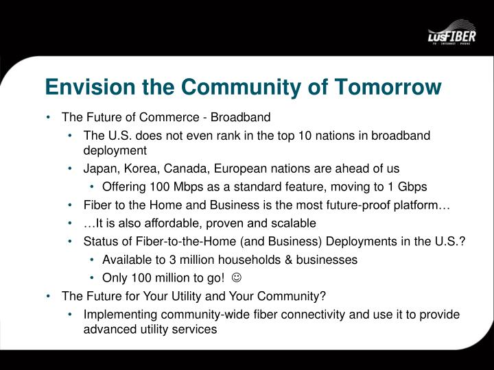 Envision the Community of Tomorrow