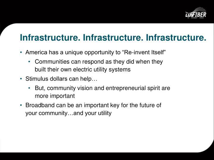 Infrastructure infrastructure infrastructure