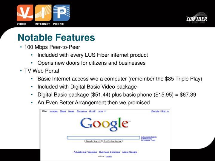 100 Mbps Peer-to-Peer