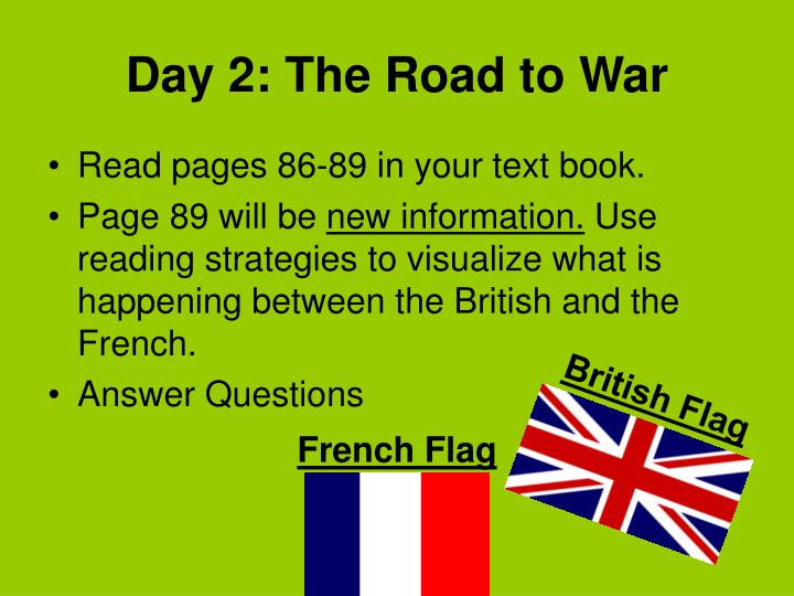 Day 2: The Road to War