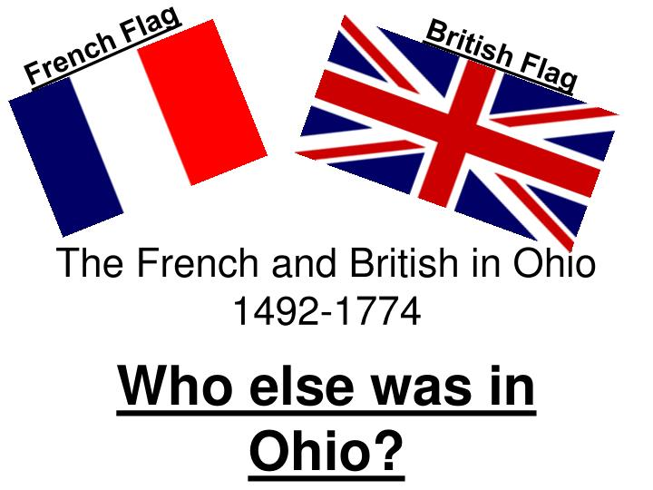The french and british in ohio 1492 1774
