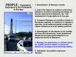 people population exposure to air pollutants in europe