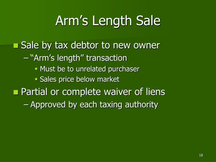 Arm's Length Sale