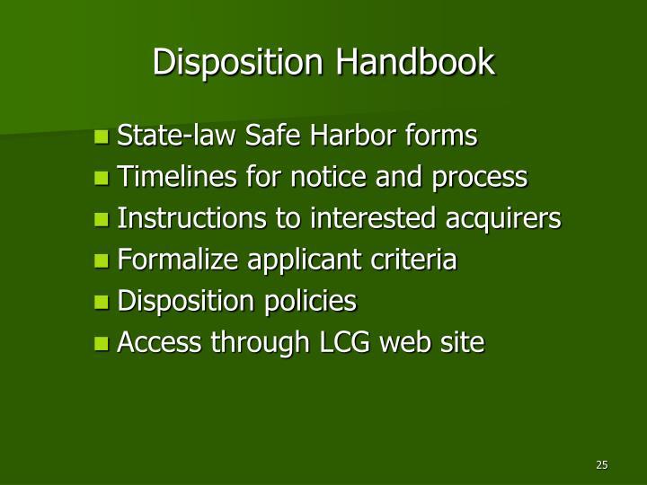 Disposition Handbook