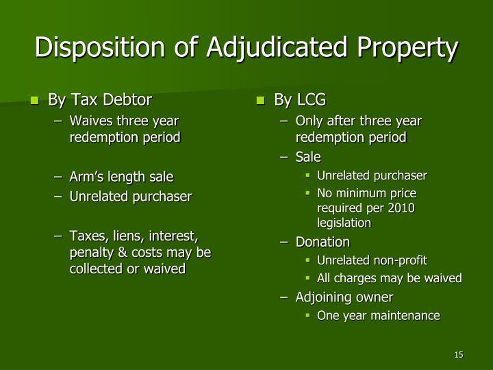 By Tax Debtor