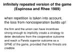 infinitely repeated version of the game espinosa and rhee 1989