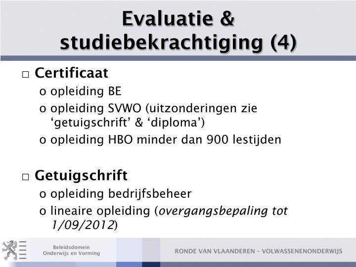 Evaluatie & studiebekrachtiging (4)
