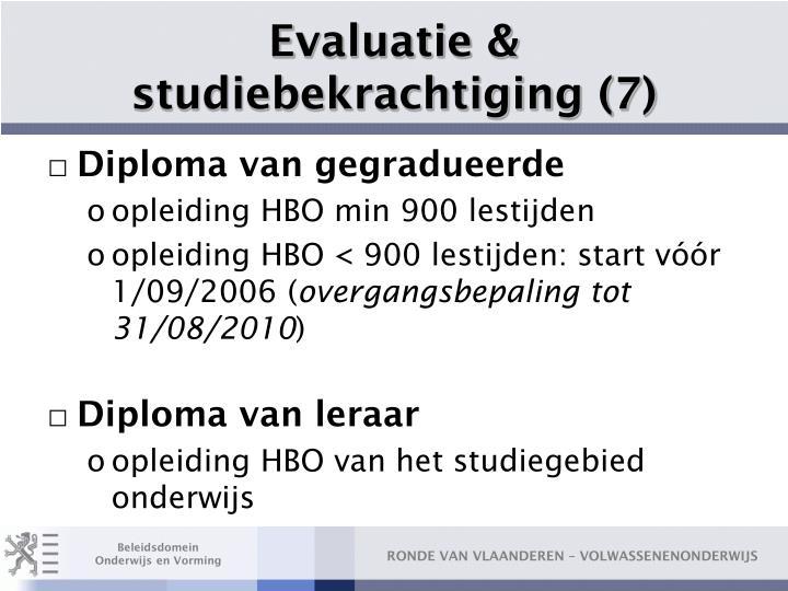 Evaluatie & studiebekrachtiging (7)