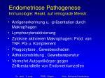 endometriose pathogenese immunologie reakt auf retrograde menstr