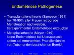 endometriose pathogenese