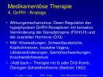 medikament se therapie 4 gnrh analoga