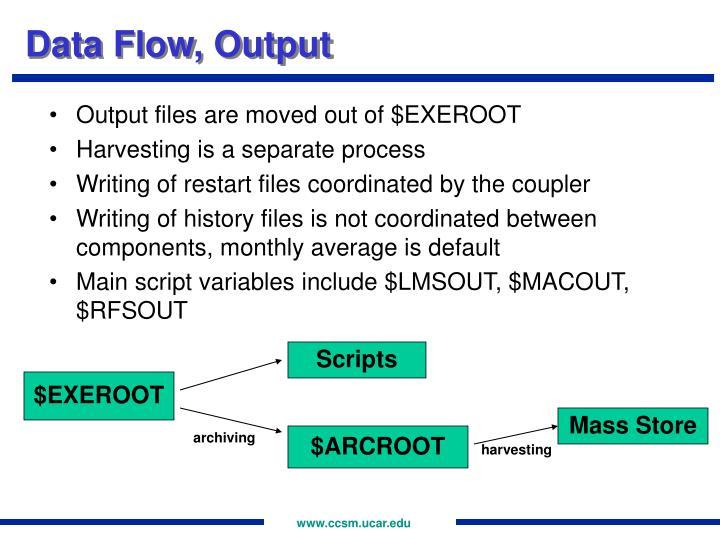 Data Flow, Output
